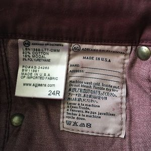 Ag Adriano Goldschmied Pants - AG Adriano Goldschmied Pants